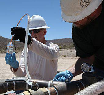 Sampling a groundwater characterization