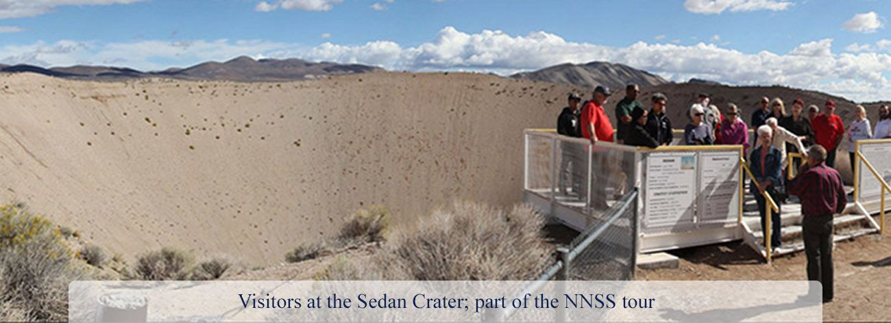 Visitors at the Sedan Crater part of the NNSS tour